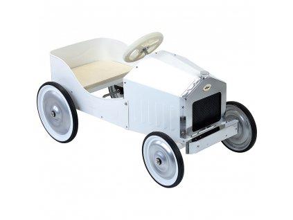 Vilac Kovové šlapací auto bílé  + Nanopodložka, loupač, nebo desinfekce