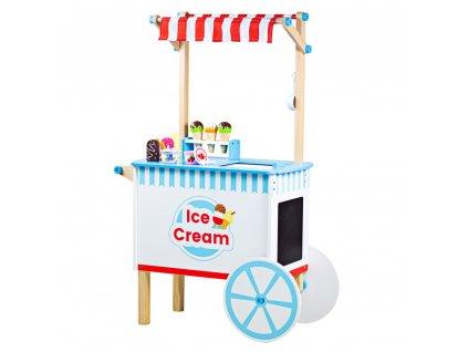 Bigjigs Toys Zmrzlinový vozík  + Nanopodložka, loupač, nebo desinfekce