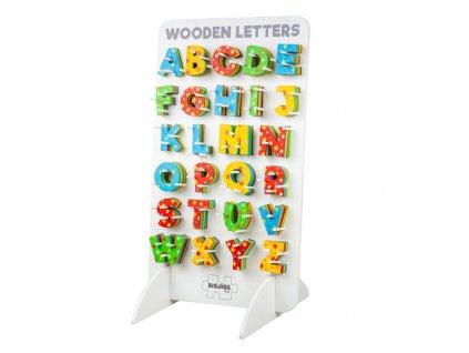 Bigjigs Toys Dřevěná hvězdičková abeceda  + Dárek zdarma