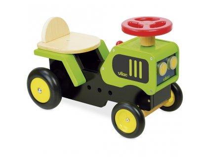 Vilac Odrážedlo traktor  + Nanopodložka, loupač, nebo desinfekce