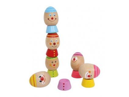 Small Foot Motorické dřevěné hry vejce na sobě