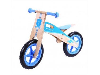 Bigjigs Toys Dřevěné odrážedlo modré  + Dárek zdarma