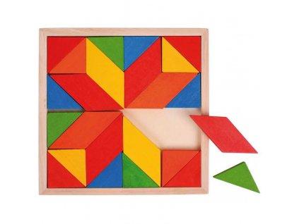 Bigjigs Toys Dřevěná mozaika barevná