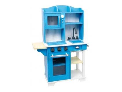 Small Foot Dětská dřevěná modrá kuchyňka  + Dárek zdarma