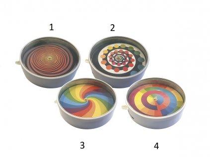 Vilac Kovový hypnotizér spirála 1ks barevné řtverce číslo 4