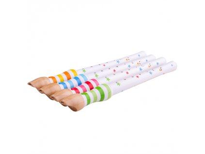 Bigjigs Toys Dřevěná flétna 1ks růžová