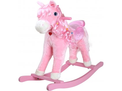 Small Foot Dřevěný houpací růžový kůň Pinky  + Dárek zdarma