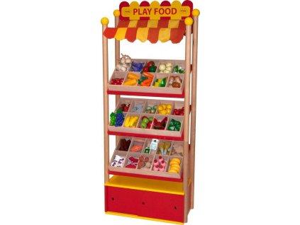 Bigjigs Toys Prodejní pult  + Nanopodložka, loupač, nebo desinfekce