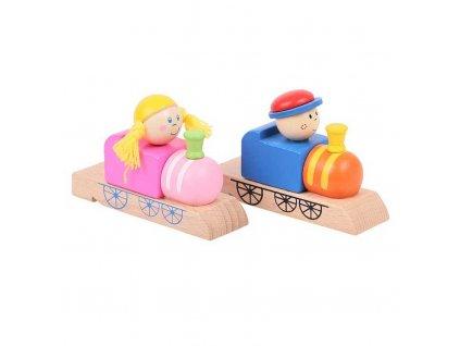 Bigjigs Toys Dřevěná píšťalka vláček 1ks