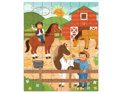 Petitcollage Puzzle v tubě Na ranči
