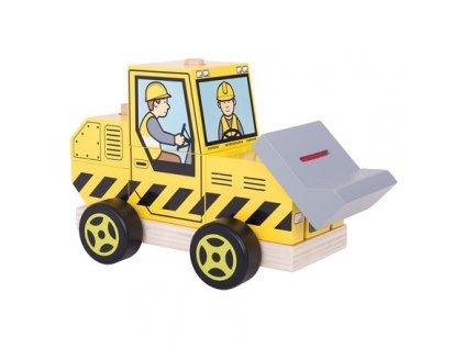 Bigjigs Baby Nasazování buldozer