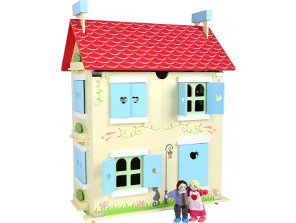 Small Foot Dřevěný domeček pro panenky s odjímatelnou střechou  + Dárek zdarma