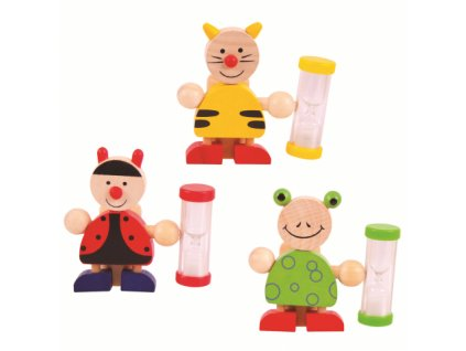 Bigjigs Toys Stojánek na kartáček s přesýpacími hodinami 1 ks