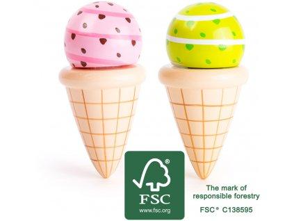Small Foot Dřevěný set zmrzlina