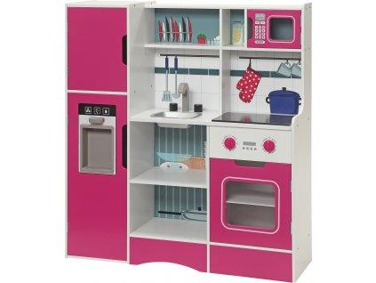 Small Foot Dřevěná kuchyňka šéfkuchař růžová  + Nanopodložka, loupač, nebo desinfekce