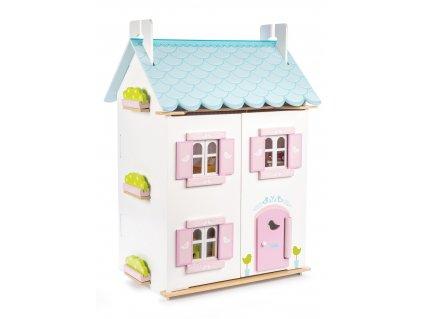 Le Toy Van Domeček Blue Bird Cottage  + Nanopodložka, loupač, nebo desinfekce