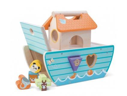 Le Toy Van Vkládačka malá archa  + Dárek zdarma