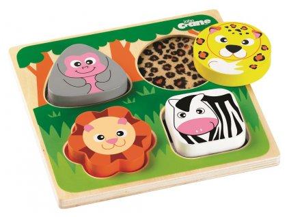 Tidlo Senzorické puzzle safari