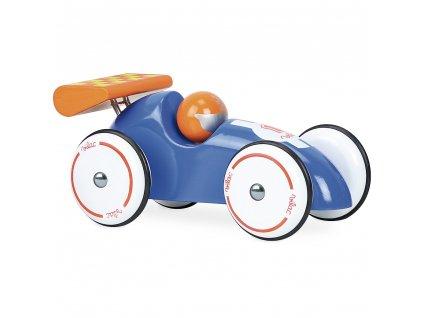 Vilac Závodní auto XL modré s oranžovým křídlem  + Nanopodložka, loupač, nebo desinfekce