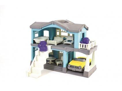 Green Toys Domeček modrý  + Nanopodložka, loupač, nebo desinfekce
