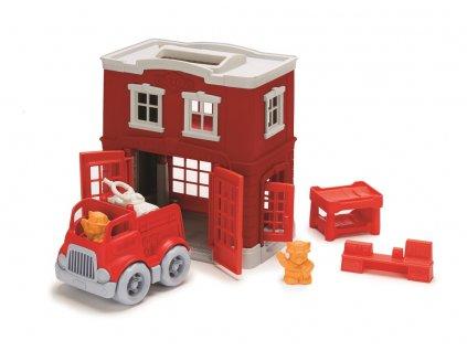 Green Toys Požární stanice  + Nanopodložka, loupač, nebo desinfekce