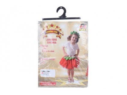 Šaty na karneval - jahoda, 80 - 92 cm