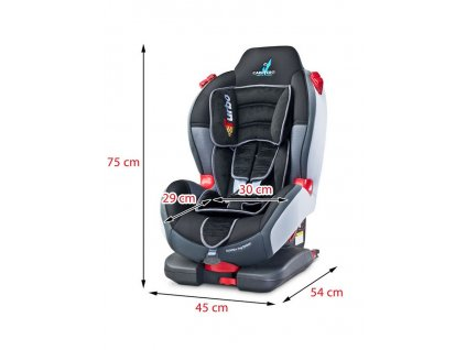 Autosedačka CARETERO Sport TurboFix