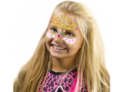 SES CREATIVE Princezna třpytkové tetování na obličej kreativní sada