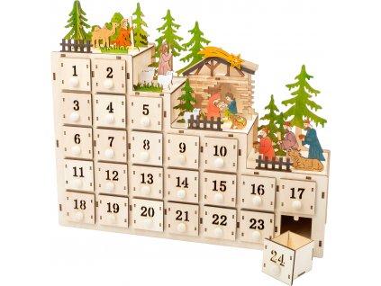 Small Foot Adventní kalendář Betlém  + Nanopodložka, loupač, nebo desinfekce