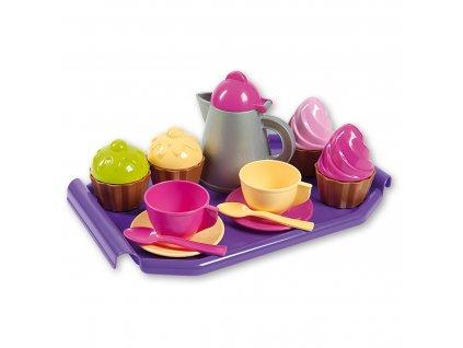 Androni Kávová souprava s konvičkou a dortíky na podnosu