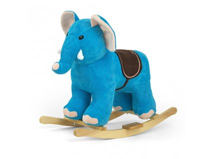 Houpací hračka s melodií Elephant - modrá  + Dárek zdarma