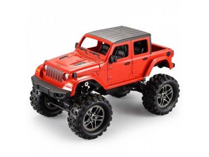 RC Crawler Jeep Wrangler Pickup 1:14 2,4 GHz - Červená  + Nanopodložka, loupač, nebo desinfekce