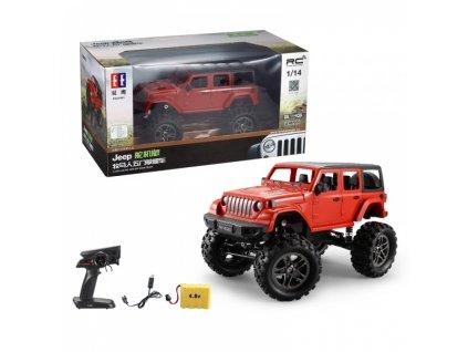 RC Crawler Jeep Wrangler Pickup 1:14 2,4 GHz - Červená