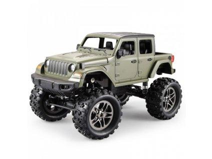 RC Crawler Jeep Wrangler Pickup 1:14 2,4 GHz - Zelená  + Dárek zdarma