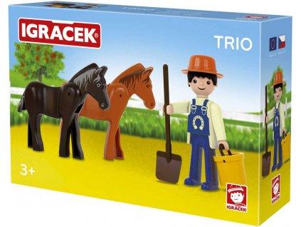 EFKO IGRÁČEK TRIO Farma set figurka s doplňky STAVEBNICE