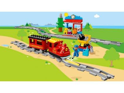 LEGO DUPLO Parní vláček 10874 STAVEBNICE  + Dárek zdarma