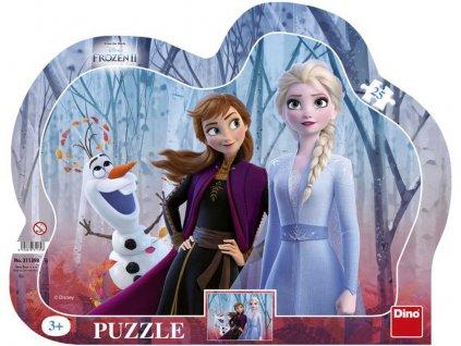 DINO Puzzle obrysové deskové Ledové Království 2 25 dílků 30x23cm skládačka