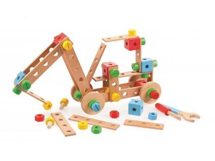 Tidlo Dřevěná skládací stavebnice  + Dárek zdarma