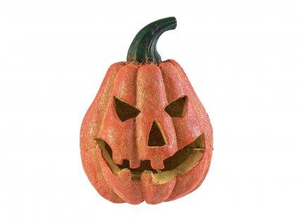 Halloween dýně s glitry, 19cm