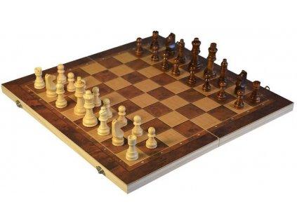 DŘEVO Hra šachy dáma backgamon 3v1 *SPOLEČENSKÉ HRY*