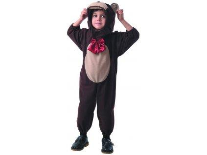 KARNEVAL Šaty medvídek vel.XS (92-104 cm) 3-4 roky KOSTÝM