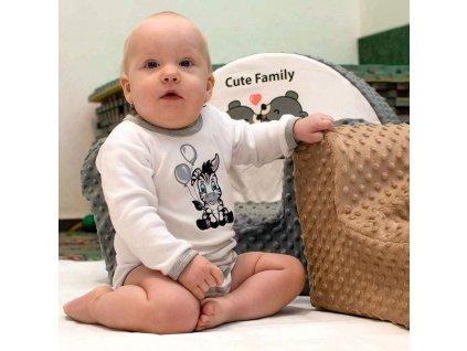 Kojenecké bavlněné dupačky New Baby Zebra exclusive
