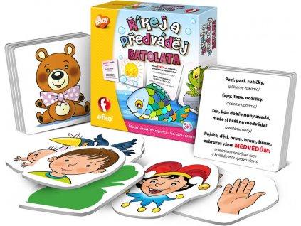 EFKO Baby hra Říkej a předváděj! říkanky s obrázky pro nejmenší pro miminko
