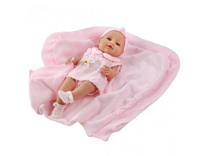 Luxusní dětská panenka-miminko Berbesa Ema 39cm - růžová  + Dárek zdarma