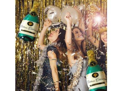 Fóliový balónek - zelené šampaňské