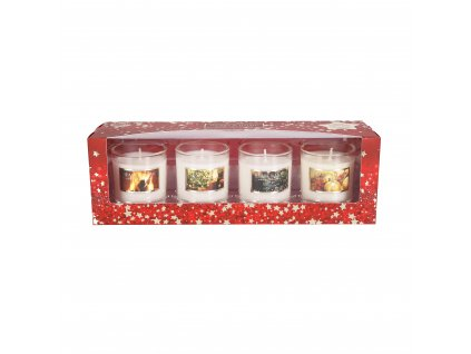 4 mini svíčky Heart and Home