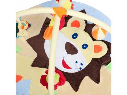 Hrací deka s melodií PlayTo lvíče s hračkou - žlutá  + Dárek zdarma