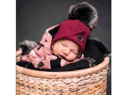 Kojenecká zimní čepička New Baby Great