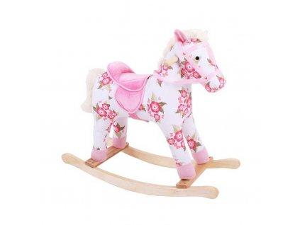 Bigjigs Toys Dřevěný houpací kůň s květy  + Dárek zdarma