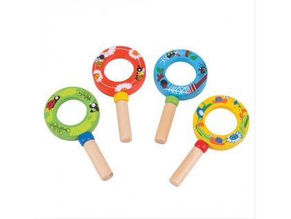 Bigjigs Toys minilupa 1ks zelená Bigjigs Toys minilupa 1ks zelená